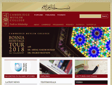 Tablet Preview of cambridgemuslimcollege.org